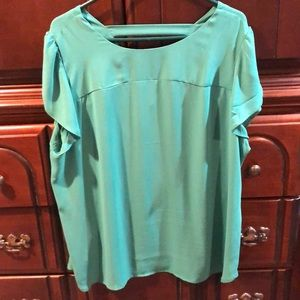 Beautiful barely worn green top from the LOFT